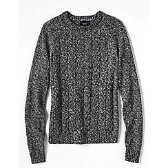 Lands' End - Grey drifter marl cable jumper