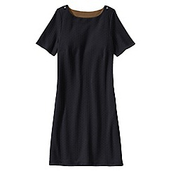 Lands' End - Black women's jacquard straight shift dress