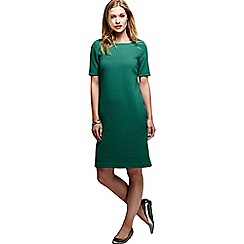 Lands' End - Green women's jacquard straight shift dress