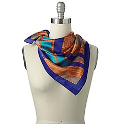 Lands' End - Orange colourblock square scarf