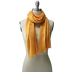 Lands' End - Gold micro dot scarf