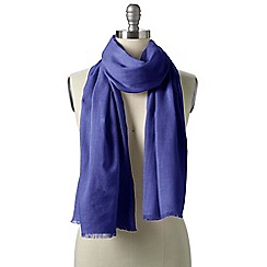 Lands' End - Purple plain scarf