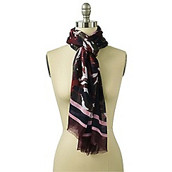 Lands' End - Red tiled leaf border scarf