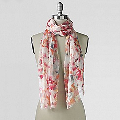 Lands' End - Pink watercolour digital floral scarf