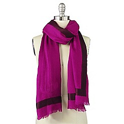 Lands' End - Pink woven border scarf