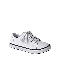 Lands' End - White kids' leather trainers