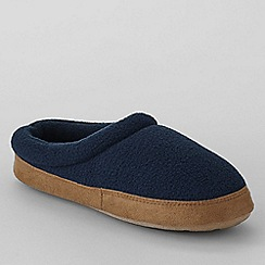 Lands' End - Blue kids' fleece clog slippers