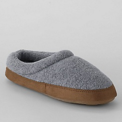 Lands' End - Grey kids' fleece clog slippers