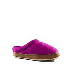 Lands' End - Girls' pink fleece clog slippers