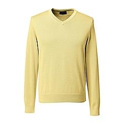 Lands' End - Yellow fine gauge v-neck sweater