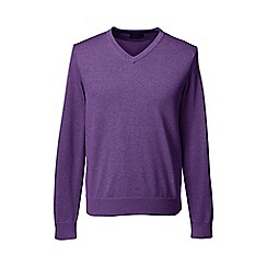 Lands' End - Purple fine gauge v-neck sweater
