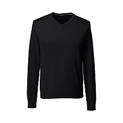 Lands' End - Black fine gauge v-neck sweater