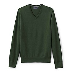 Lands' End - Green fine gauge v-neck sweater