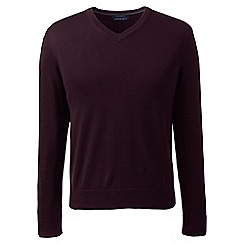 Lands' End - Red fine gauge v-neck sweater