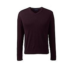 Lands' End - Red fine gauge v-neck sweater