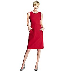 Lands' End - Red women's welt pocket shift dress