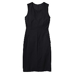Lands' End - Black women's welt pocket shift dress