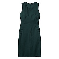 Lands' End - Green women's welt pocket shift dress