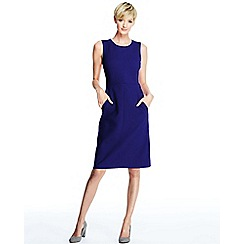 Lands' End - Purple women's welt pocket shift dress