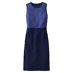 Lands' End - Blue women's ponte shift dress - colourblock