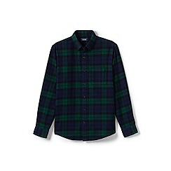 Lands' End - Multi tailored fit patterned flannel shirt