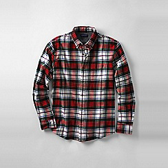 Lands' End - Multi men's tailored fit patterned flannel shirt