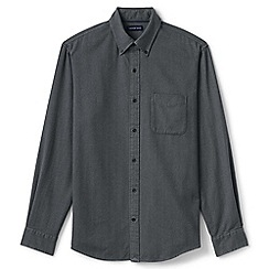 Lands' End - Grey tailored fit flannel shirt