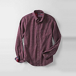 Lands' End - Red men's tailored fit flannel shirt
