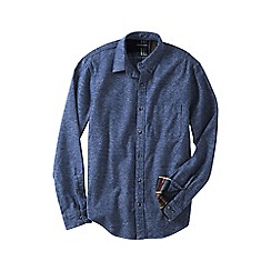 Lands' End - Blue men's tailored fit flannel shirt