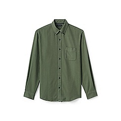 Lands' End - Green tailored fit flannel shirt