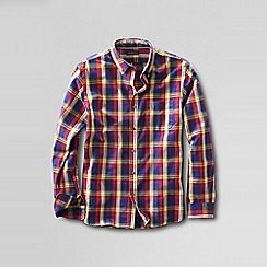 Lands' End - Red tailored fit patterned sail rigger oxford shirt