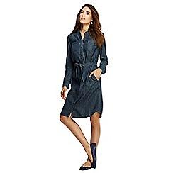 Lands' End - Blue women's denim shirtdress