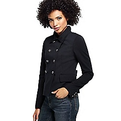 Lands' End - Black women's ponte jersey captain jacket