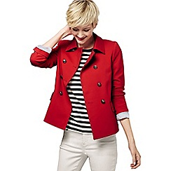 Lands' End - Red women's ponte jersey captain jacket