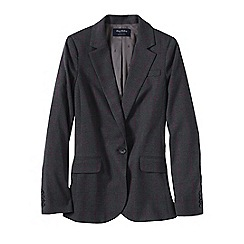 Lands' End - Grey women's regular wear to work blazer