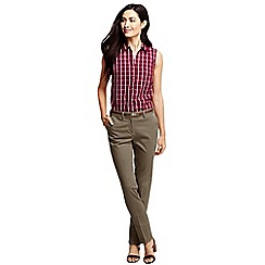 Lands' End - Beige women's slim leg stretch chinos