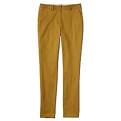 Lands' End - Yellow women's slim leg stretch chinos