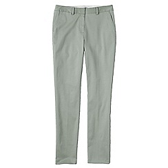 Lands' End - Green women's slim leg stretch chinos
