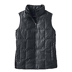 Lands' End - Grey petite shimmer down gilet