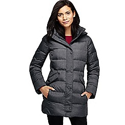 Lands' End - Grey women's heathered premier down parka