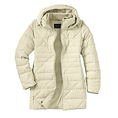Lands' End - Cream women's chalet down parka