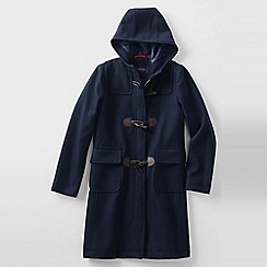 Lands' End - Blue girl's wool duffle coat