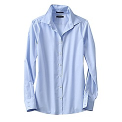Lands' End - Blue women's supima reg; non iron shirt