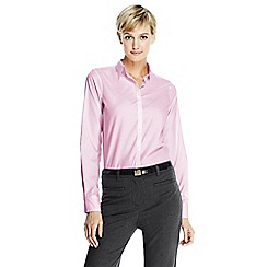 Lands' End - Pink women's supima reg; non iron shirt