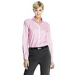 Lands' End - Pink women's supima reg; non iron shirt