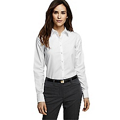 Lands' End - White women's supima reg; non iron shirt