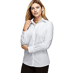 Lands' End - White plus supima reg non iron shirt
