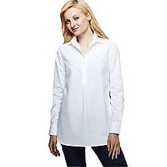 Lands' End - White supima reg; non iron tunic