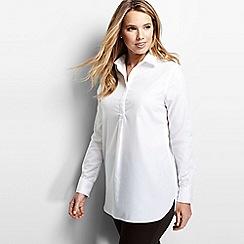 Lands' End - White women's supima® non iron tunic