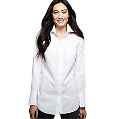 Lands' End - White long length shirt